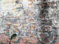 Reklama na zdi. Agonda, Goa, Indie