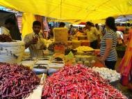 Trh v Chaudí. Canacona. Goa, Indie