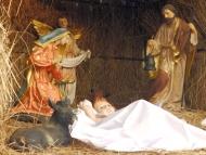 Vánoční Betlém. Agonda, Goa, Indie