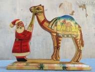 Santa a Velbloud. Agonda, Goa, Indie
