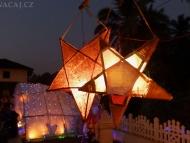 Vánoční výzdoba. Agonda. Goa, Indie