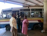 Autobusové nádraží. Canacona. Goa, Indie