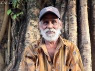 Ind pod stromem. Agonda, Goa, Indie