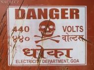 Nebezpečí v Goa. Indie