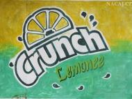 Crunch - reklama na zdi. Agonda, Goa