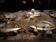 Ryby v restauraci. Agonda. Goa, Indie