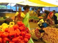 Saturday Market. Canacona. Goa, Indie