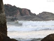 Moře a skály. Agonda. Goa, Indie
