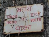 Nebezpečí úrazu elektrickým proudem v Goa. Indie