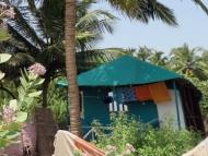 Ubytování napobřeží. Goa, Indie