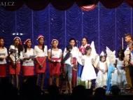 Vánoční koncert. Agonda. Goa, Indie