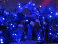 Vánoční betlém. Agonda. Goa, Indie