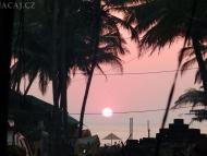 Západ slunce. Agonda. Goa, Indie
