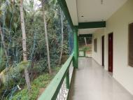 Ubytování: Agonda, Goa, Indie. Terasa