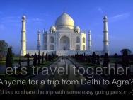 Cesta do Agry a Taj Mahal