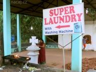 Super prádelna. Arambol, Goa, Indie