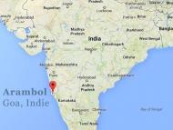 Hippie pláž Arambol v Goa, Indie