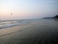 Prázdné pláže v Arambolu, Goa