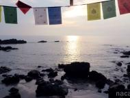 Západ slunce u moře. Arambol, Goa