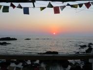 Pohled z mého pokoje. Arambol, Goa, Indie