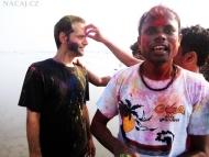 Holi festival - Arambol, Goa, Indie