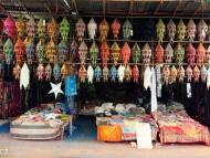 Obchod s lampičkama, Arambol, Goa