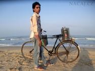 masala čaj na pláži - Goa. Indie