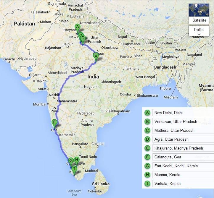 Cesty po Indii: Dillí - Kerala