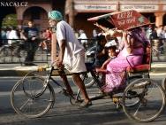 Cyklo rikša. Jaipur-Rajasthan, Indie