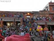 Indové na festivalu - Jaipur, Rajasthan, Indie