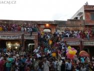 Lidé na festivalu - Jaipur, Rajasthan, Indie