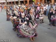 Tanečnice. Jaipur, Rajasthan, Indie