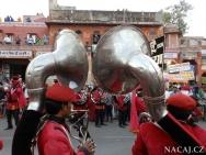 Trubači na festivalu - Jaipur-Rajasthan, Indie
