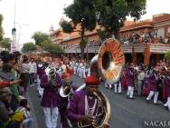 Trubci na festivalu. Jaipur, Rajasthan, Indie