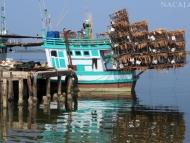 Rybářské lodě. Koh-Komg-, Kambodža