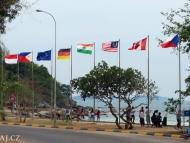 Vlajky. Sihanoukville, Kambodža