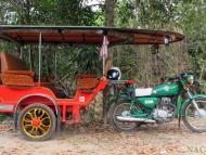 Motorka-Taxi. Sihanoukville, Kambodža