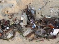 Špinavé pláže. Sihanoukville, Kambodža