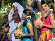 Kostel v Kanyakumari. Tamil Nadu, Indie