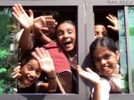 Děti ve Fort Kochi. Kerala, Indie