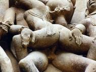 Erotické sochy - Khajuraho