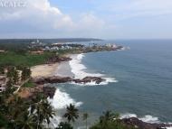 Pohled z majáku. Kovalam Bech. Kerala, Indie
