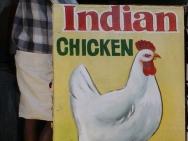 Kuřata na trhu v Munnaru. Kerala, Indie