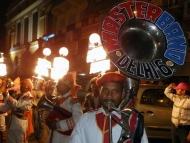 Oslavy v ulicích. Dillí - Indie