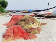 Pláž Palolem, Goa. Indie