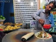 Falafel na ulici. Pushkar, Rajastan, Indie