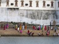 Ghats u jezera Pushkar, Rajastan, Indie