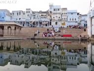 Večerní obřad. Pushkar, Rajastan, Indie