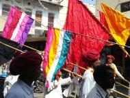 Vlajky v ulicích Puškaru