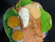 Masala Dosa. Rameswaram. Tamil Nadu, Indie